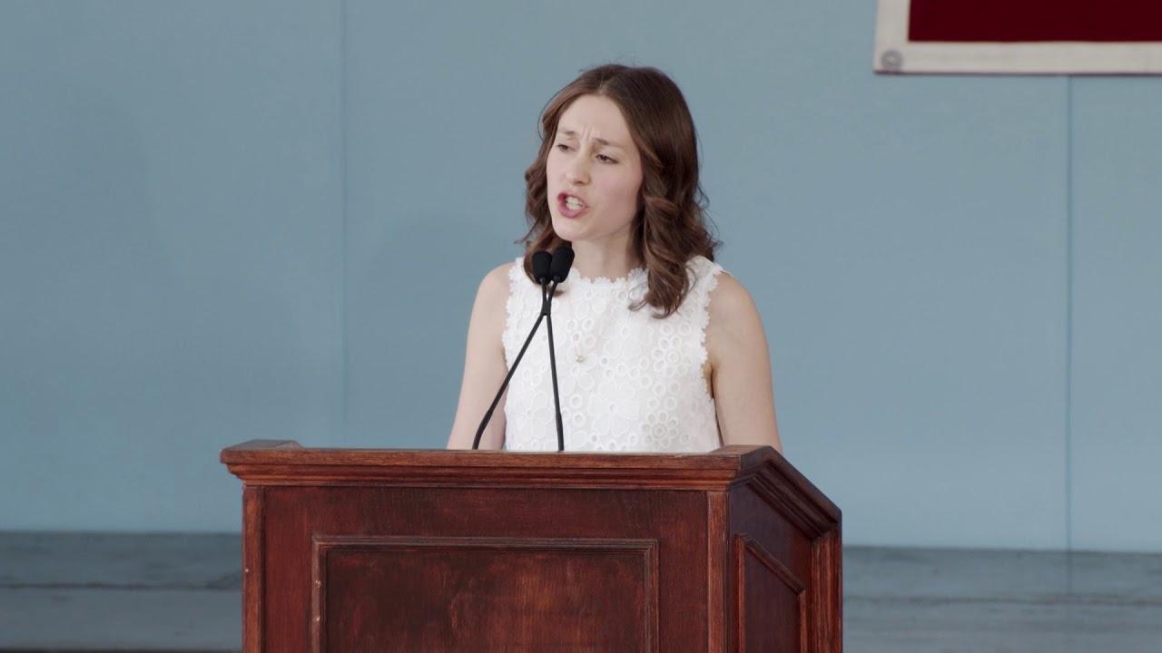 Ivy Orator Carolina Brettler | Harvard Class Day 2018