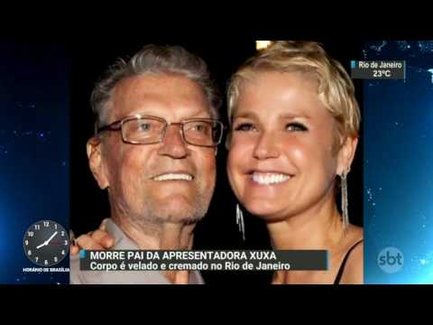 Pai da apresentadora Xuxa é velado e cremado no Rio de Janeiro - SBT Brasil (20/03/17)