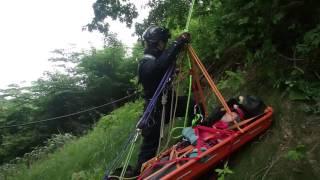 ロープレスキュー 公開レスキュー訓練2017 日本空糸