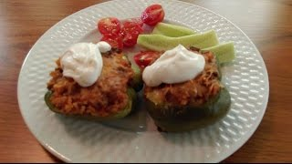 Stuffed Peppers- How to make Stuffed Bell Peppers - The Hillbilly Kitchen