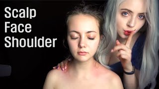 ASMR Relaxing Scalp, Head + Shoulder massage