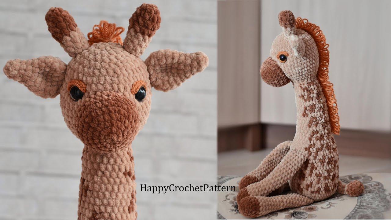 I Love Buttons By Emma: Crochet Giraffe Pattern | 720x1280