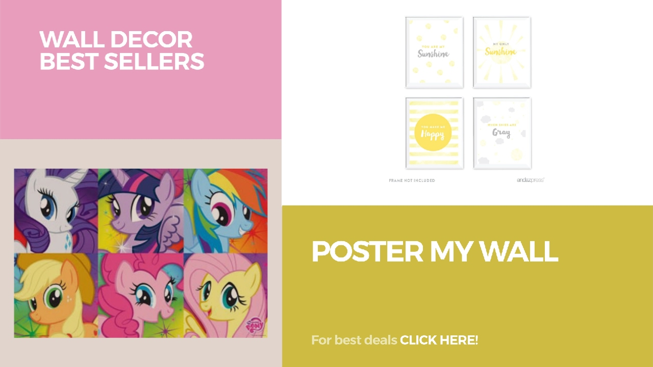 Poster My Wall // Wall Decor Best Sellers - YouTube