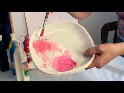 C mo hacer color rosa rosa palo salm n youtube for Como hacer el color gris en pintura