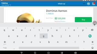 Sollte ich den Dominus Aureus kaufen[Roblox lesen desc]