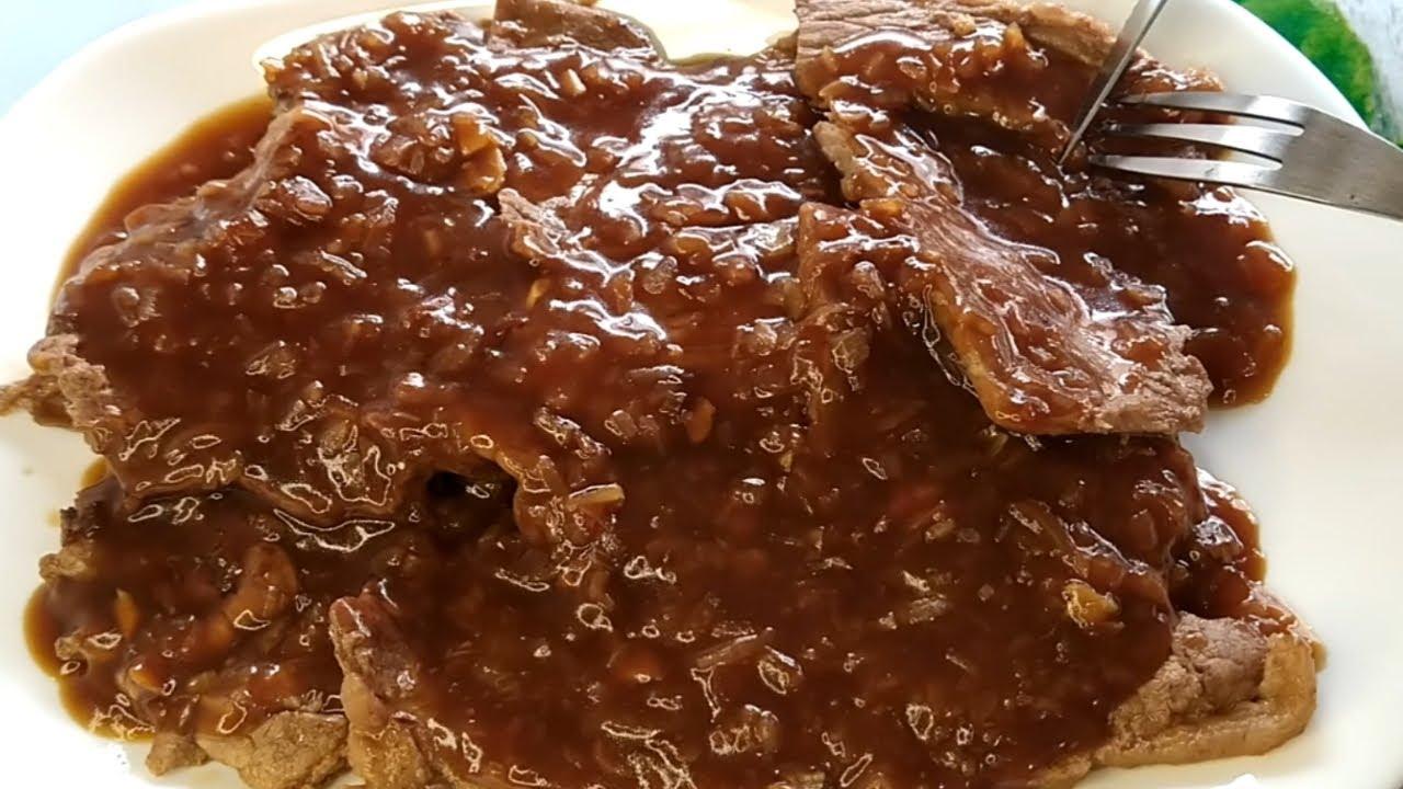 Sólo 3 ingredientes y 15 minutos, Nunca comí filetes tan DELICIOSOS, mojando PAN todo el rato bistec
