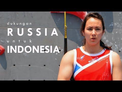 DUKUNGAN RUSSIA UNTUK TIMNAS SPORT CLIMBING INDONESIA