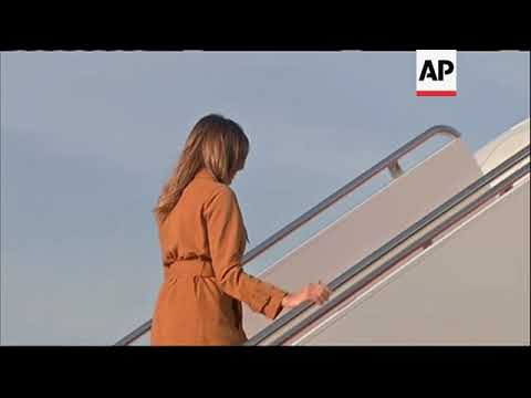 US First Lady Melania Trump boards plane for solo trip to Africa