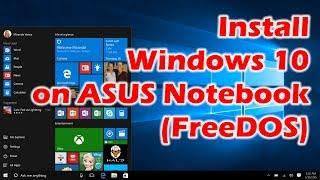 Install Windows 10 on ASUS E202 Notebook via USB stick (FreeDOS)