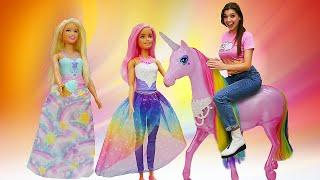 Лучшие видео для девочек - Новые куклы Barbie Dreamtopia! - Веселые игры с Барби.