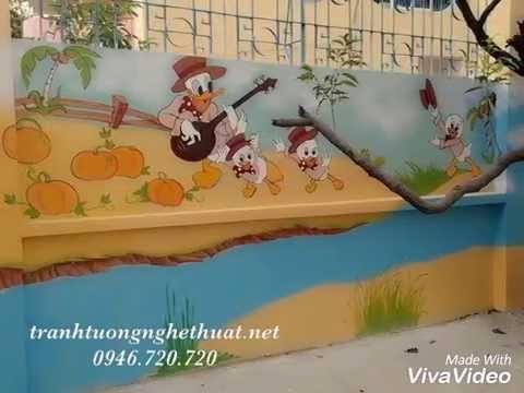 Vẽ tranh tường mầm non mẫu giáo nhà trẻ đẹp giá rẻ tại TPHCM