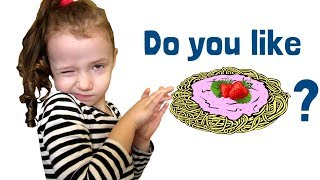 Do You Like Spaghetti Yogurt? Super simple songs Learning food song by Ulya