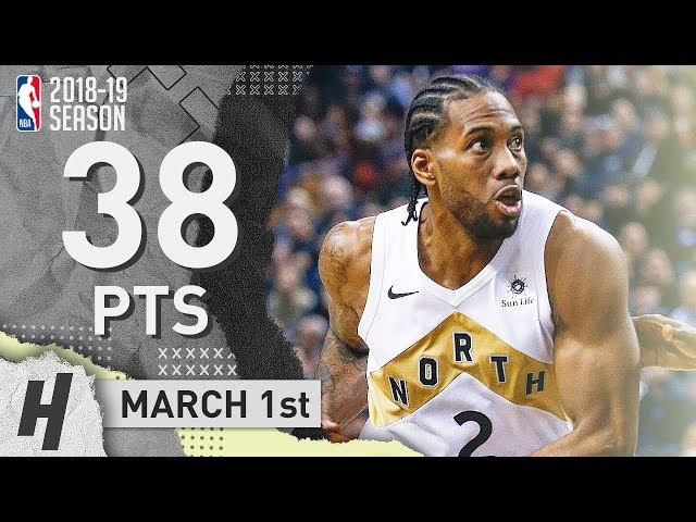 Kawhi Leonard SHOCKS THE BLAZERS! EPIC Clutch Highlights 2019.03.01 - 38 Pts, GAME-WINNER!