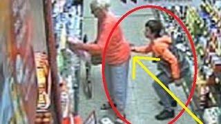 بالفيديو: نشال صغير يلهي امرأة سبعينية ليسرق محفظتها
