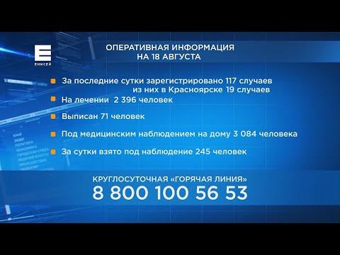 Опубликована статистика заболеваемости коронавирусом в районах Красноярского края