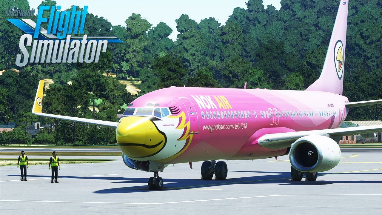Microsoft Flight Simulator - สายการบินนกแอร์ 737-800