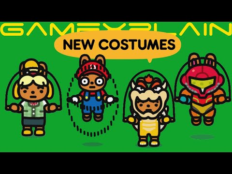 Tons Of Nintendo Costumes Added To Jump Rope Challenge Isabelle Inkling Mario More Youtube