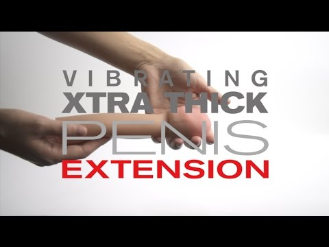 CyberSkin Xtra Thick Vibrating Transformer Penis Extension – Rings, Sleeves and Masturbators