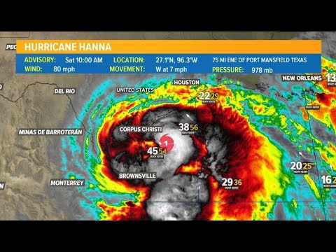 Hurricane Hanna: Storm Expected to Make Landfall in Texas