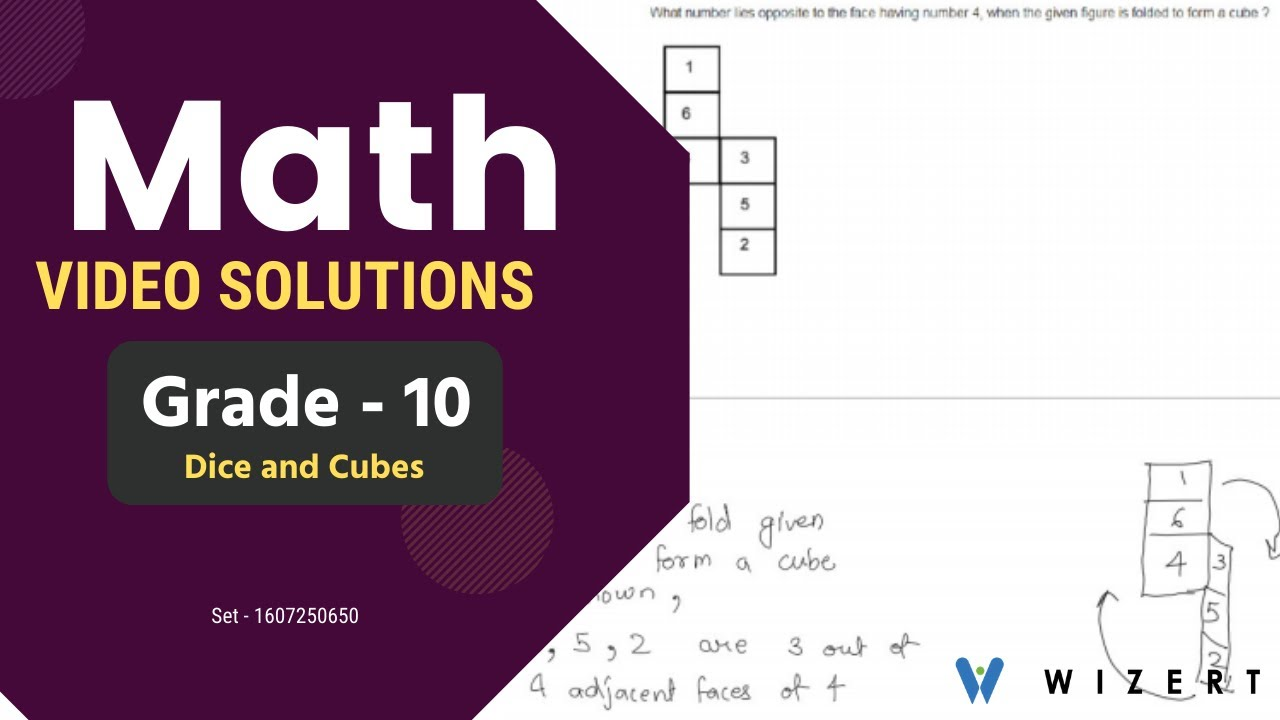 Math Tests for Grade 10 - Grade 10 Dice and Cubes worksheets - Set  1607250650 - YouTube [ 720 x 1280 Pixel ]