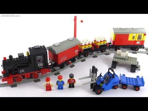 LEGO vintage 4.5V Steam Cargo Train set from 1985! set 7722 - YouTube