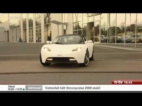 Motor Show Essen Brabus Tesla Roadster Ntv Youtube