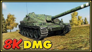 AMX Canon d'assaut 105 - 8K Dmg - World of Tanks Gameplay