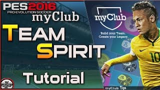 PES 2016 myClub Team Spirit Tips ( How to get High TS)