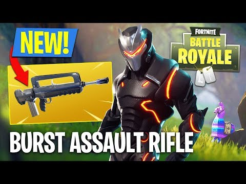 Fortnite NEW Gun Update - Burst Assault Rifle Gameplay!! (Fortnite Battle Royale)