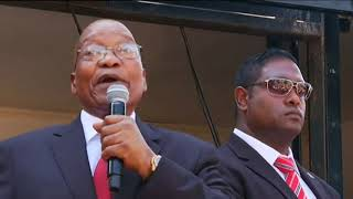 (WATCH) Jacob Zuma addresses crowds after postponed trial