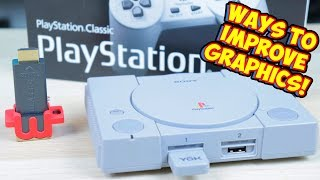 PlayStation Classic Upgrading Graphics With MClassic & Without!