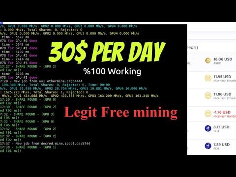 😱Legit Free Bitcoin Mining CPU+gpu | Free Bitcoin Miner Software | Minerstart  Nice Hash Miner 2020