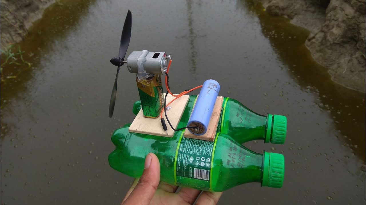 How to make 7up bottle boat science project  @HowToMakeToy