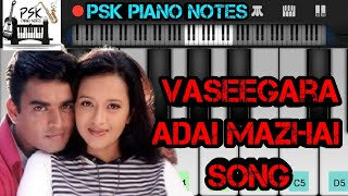 Vaseegara Adai Mazhai Song Piano Notes   Minnale Song Bgm   Piano Tutorial   PSK Piano Notes
