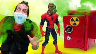 Человек Паук в видео шоу - Что спрятано в Сейфе? Герои против Шредера! – Новые игры с супергероями.
