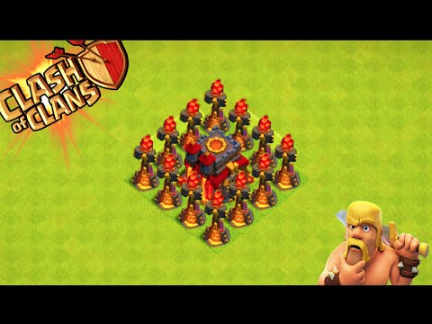clash of clans quotinferno tower defensequot omfg it works