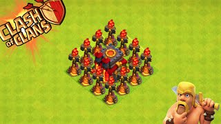"Clash of Clans - ""INFERNO TOWER DEFENSE!"" OMFG IT WORKS! WINNING Defenses in Champions League!"