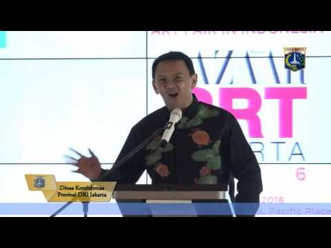 25 Agst 2016 Gub Basuki T. Purnama Membuka acara Bazaar Art Jakarta 2016