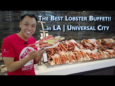 Best Buffet In LA! | Feasting On Lobster, King Crab, Prime Rib At Universal Studios @ Universal City