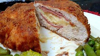 أروع كوردون بلو ❤على طريقة أفخم المطاعم👌 طري من داخل ومقرمش من برا 👍🏻مع كريمة الجبن الرائعة☝️