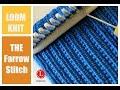 LOOM KNITTING STITCHES : The Farrow Rib Stitch  by Loomahat