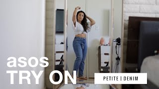 NON SPONSORED asos PETITE TRY ON [denim edition]   hearing impaired friendly