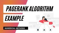 PageRank Algorithm - Example