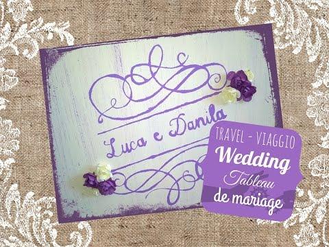 DIY Wedding tutorial: Tableau de mariage tema viaggio - Travel-themed wedding tableau