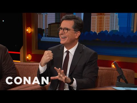 Stephen Colbert Threw A Horse Out Of A Plane  - CONAN on TBS