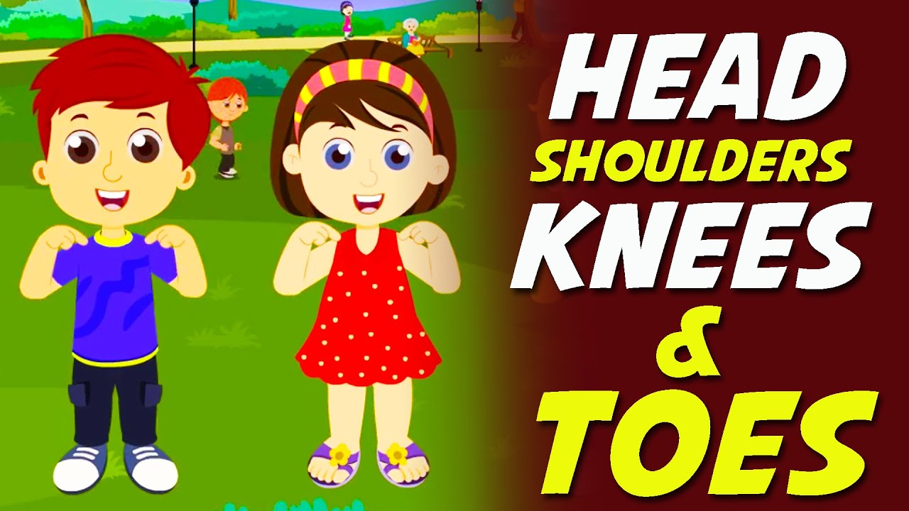 head shoulders knees toes nursery rhyme youtube