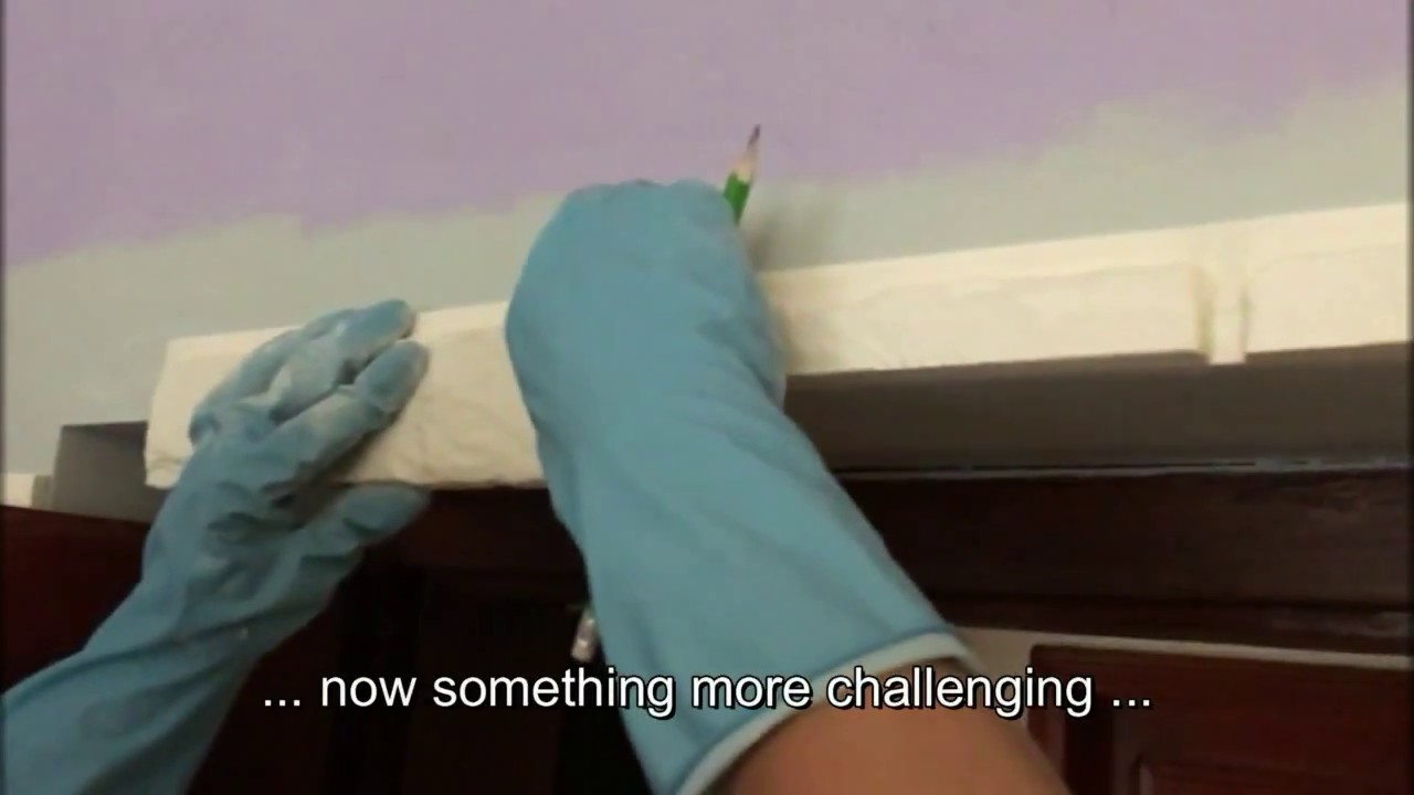 How to install Decorative Stone Gypsum Wall Tiles - YouTube