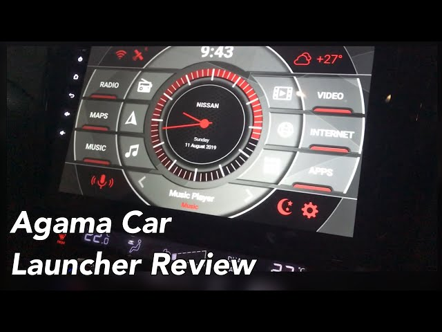 Best Car Launcher for Android Car Head Unit -Agama Car Launcher