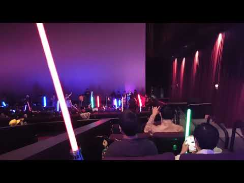 Star Wars fans in the theater in Taiwan
