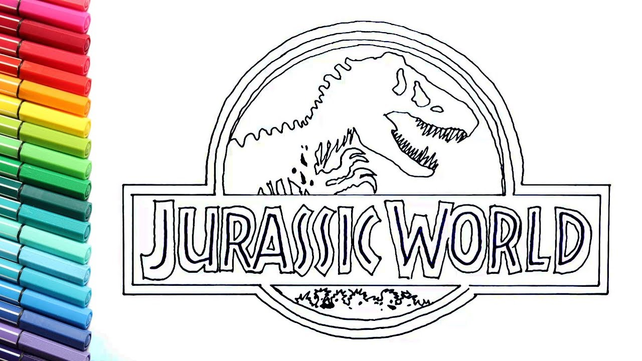 Drawing And Coloring Jurassic World Logo Dinosaurs Color Pages For